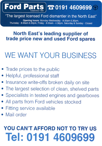 Ford Parts advert 2